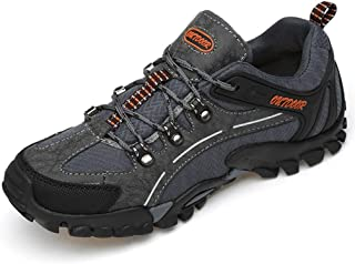 [SENNIAN] 登山靴 マウンテンシューズ ファッション メンズ カジュアル ハイキング 滑り止め 四季通用ランニング ウォーキング ブラックグレー 幅広 スニーカー 日常スポーツ クッション性 快適 屈曲性
