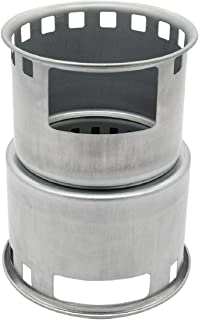 ユーラー 焚き火台 薪ストーブ キャンプ ミニ型 コンロ ウッドストーブ コンパクト 多機能 メッシュバッグ付き