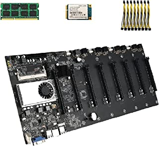 Gruvmaskin Moderkort BTC-T37CPU Set DDR3-minne Integrerat VGA-gränssnitt Hållbart 8 grafikkortplatser