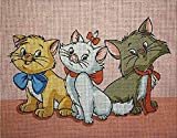 Painting embroidery cross stitch set Tapestry embroidery set three tom cats Cross stitch embroidery set 20x25cm Including multi-strand cotton thread[] Bordado con aguja 5D HD cod.003