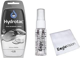 Optx 20/20 Hydrotac Stick-On Bifocal Lenses and Eagle Vision Lens Cleaner Bundle (+1.25)