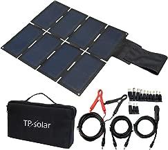 TP-solar 60W Portable Foldable Solar Panel Charger Kit Dual USB Output 5V + 18V DC for Portable Generator Power Station Cell Phone Tablet Laptop GPS Camera 12V RV Boat Car Battery