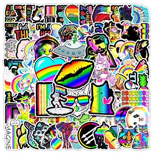 BAIMENG Color Ins Wind Series Graffiti Pegatina Equipaje Monopatín Motocicleta Pegatinas Decorativas 100 Piezas