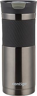 Contigo SnapSeal Byron Vaso de viaje de acero inoxidable aislado al vacío, 591 ml, Color Gris Metálico