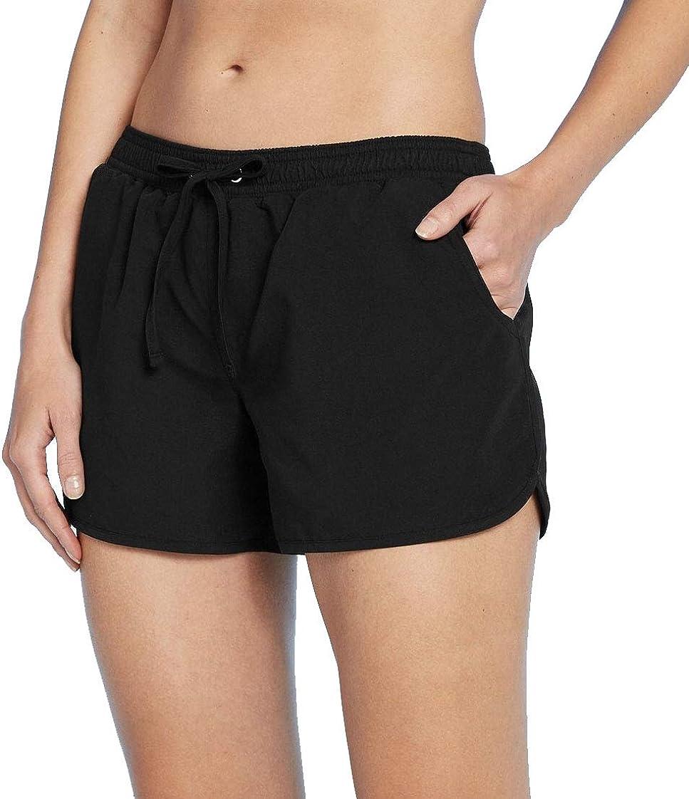 Kona Sol Women's Supplex Swim Shorts Black (L)
