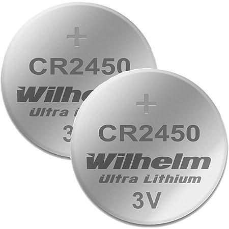2 X Cr2450 Wilhelm Lithium Knopfzelle 3v 600mah Elektronik