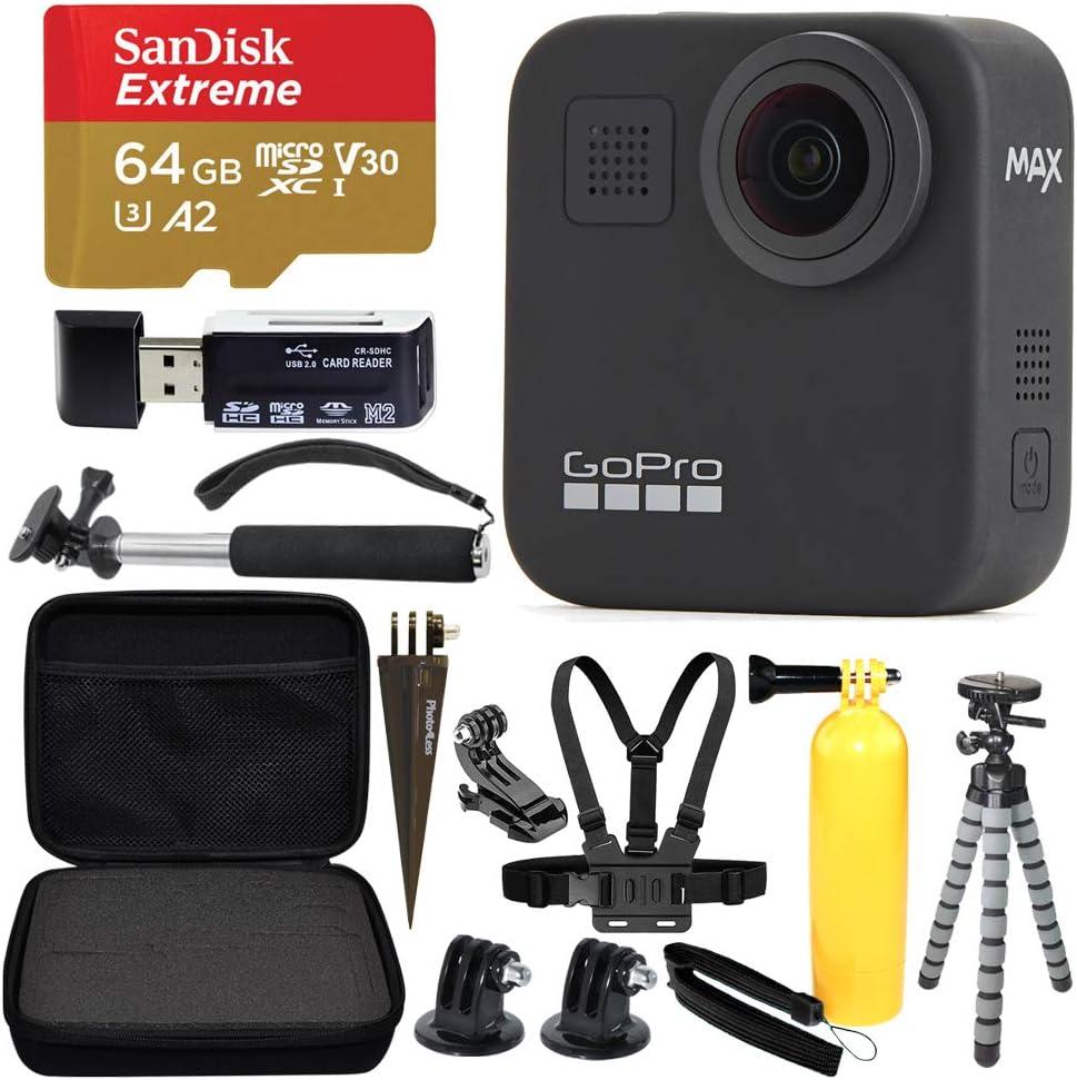 GoPro MAX 360 Sports Action Camera microS Elegant Extreme SanDisk Spring new work + 64GB
