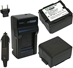 Wasabi Power Battery (2-Pack) and Charger for Panasonic DMW-BLA13, VW-VBG130