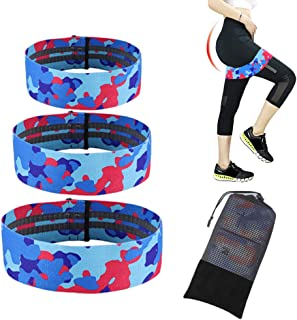 weesler Fabric Resistance Bands Set for Hips, Legs and Butt, Non Slip Fabric Booty Bands for Women,Exercise Band Resistance Set Booty Bands Hip Bands Wide Workout Bands Elastic Bands