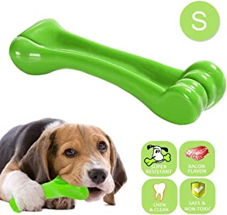 Hamkaw Dog Chew Bone for Aggressive Chewers - Tough Indestructible Pet Chew Toy Bone for Small Dog - Nylon Bite Resistant Long Lasting Puppy Doggy Teething Stick for Training