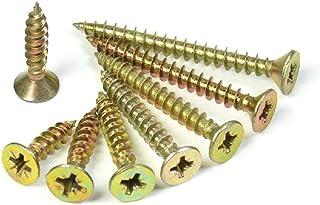 General Purpose Gold Screws waxed Zinc Wood Philips Recess Screw 4mm x 20mm