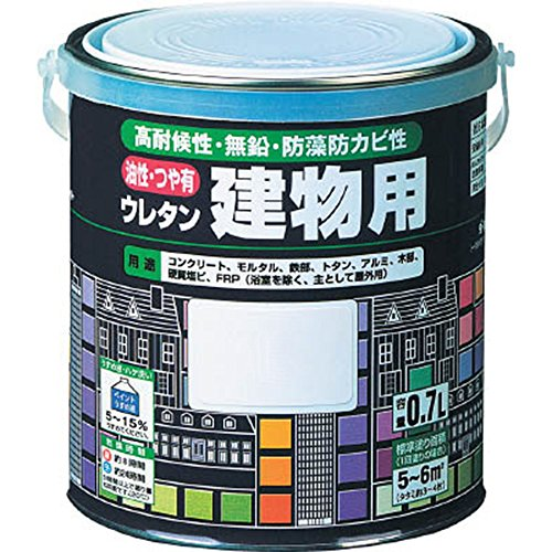 ロックペイント 油性・つや有ウレタン建物用塗料 ココアブラウン 3L H06-T056-02