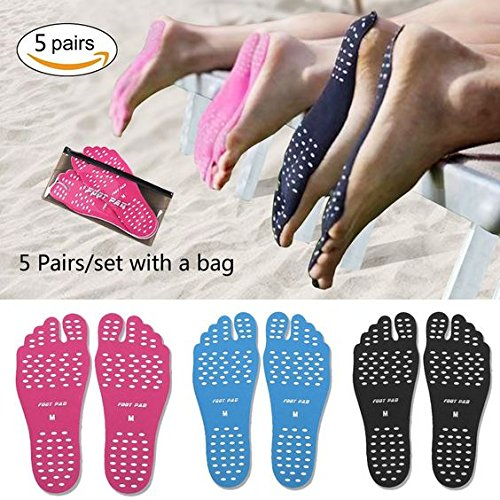 ecseo Beach Foot Pads for Barefoot Lover,Stick on Soles,Invisible Shoes Stick on
