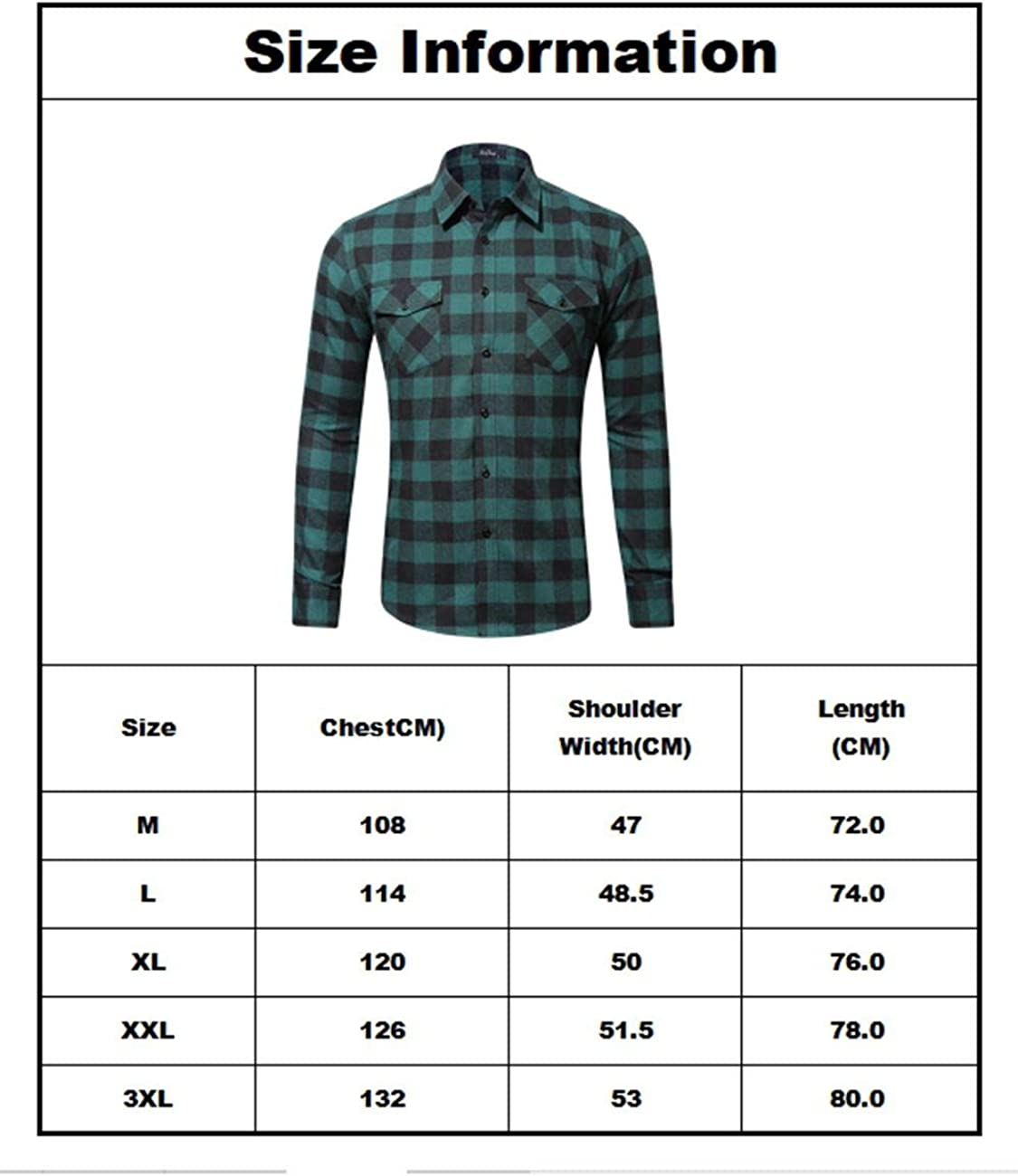 Pinkpum Camicia Casual Maniche Lunghe A Quadri Camicie da Uomo in Cotone Basic M-3XL