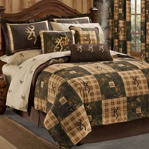 Browning Country 8 Pc Full Size Comforter Set (Comforter, 1 Flat Sheet, 1 Fitted Sheet, 2 Pillow Cases, 2 Shams, 1 Bedskirt)