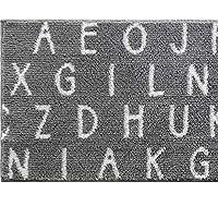 saltoru(ソルトル)【 約縦45×横252cm 】アルファベット キッチンマット グレー