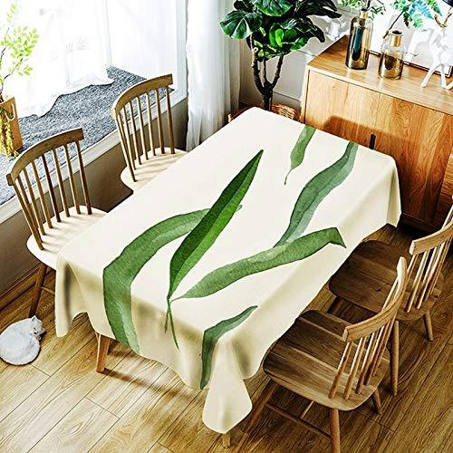 XXDD Mantel 3D Estampado Digital Hoja Tropical patrón de Flores Mantel Impermeable para la Cubierta de la Mesa del Banquete de Bodas A2 135x180cm