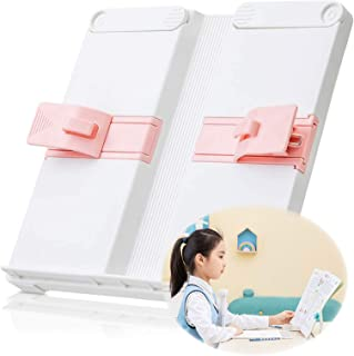 Fashion Multifunctional Reading Rack Cute Book Reading Stand Portable Students Reading Desk Bookrest 2 Book Page Paper Cli...