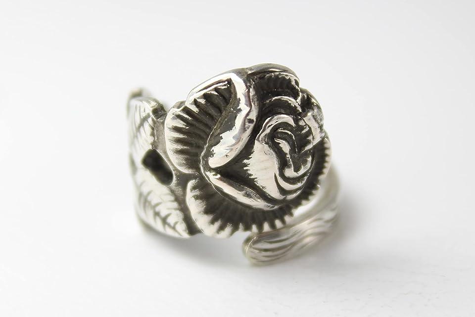 Rosen Ring 800 Silber Besteckschmuck Ring, ca. 52 (16,5) Ring aus Silberbesteck