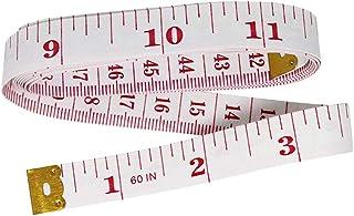 LAAT 1pcs Soft Tape Measure Ruler Bulk Tape Measure Dual Sided Soft Tape Measure Ruler Measuring Flat Tape for Sewing Tailor Cloth (Random Color)