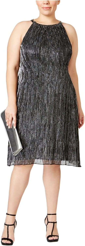 Alfani Womens Metallic ALine Shift Dress