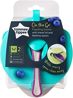 Tommee Tippee Explora Easy Scoop Feeding Bowls Lid And Spoon, Multi Color -TT446718