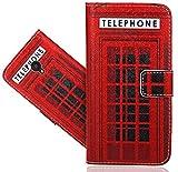 FoneExpert® ALCATEL U5 4G Handy Tasche, Wallet Hülle Flip Cover Hüllen Etui Hülle Ledertasche Lederhülle Schutzhülle Für ALCATEL U5 (4G) 5044D