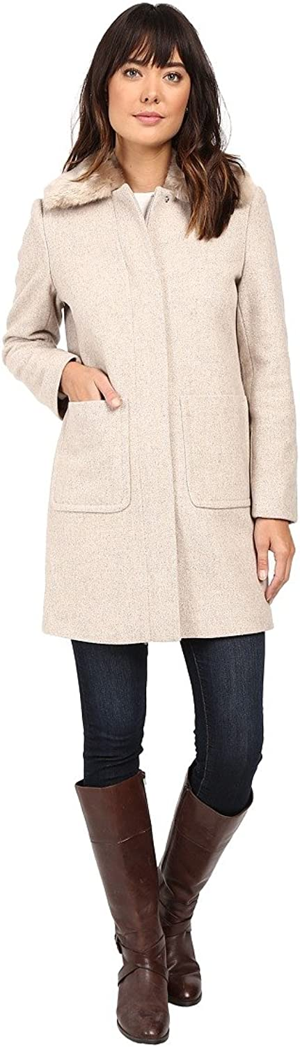 Lauren Ralph Lauren Womens Winter Wool Blend Car Coat