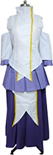 Female Vocalist Clyne Faction Lacus Clyne White Purple Dress Cosplay Costume