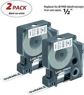 Label Orison-D1 Label Tape 45013 S0720530 Black on White 1/2 Inch x 23 Feet Compatible with DYMO LabelManager 160 210D 280 360D 420P Wireless PnP 220P 260P 450D 500TS,5 Cartridges