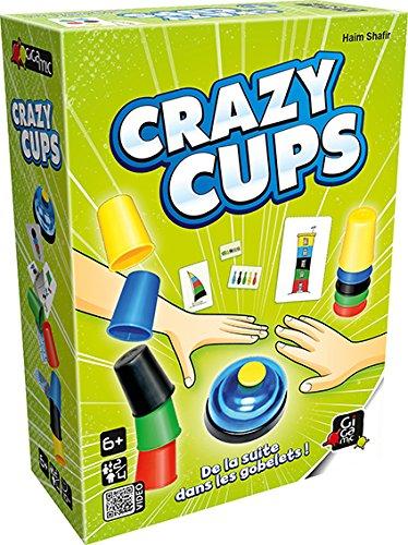 Gigamic- Jeu de Réflexe-Crazy Cups, AMHCC