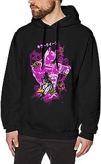 DDHHYY Anime JoJo's Bizarre Adventure - Kira Yoshikage Killer Queen Men's Long Sleeved Pullover Sweatshirts Hoodies