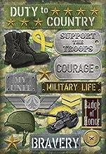KAREN FOSTER Design Acid and Lignin Free Scrapbooking Sticker Sheet, Military Life
