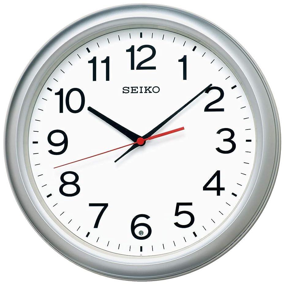 剛性ステップ増幅器セイコークロック(Seiko Clock) 掛け時計 銀色メタリック 直径30.7×4.7cm 電波 アナログ KX250S