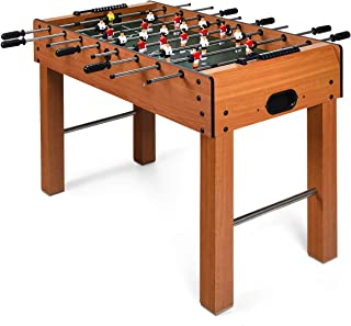 "Goplus 48"" Foosball Table, Easy-Assemble Soccer Game Table w/ 2 Balls, Competition Sized Foosball Games for Home, Game Room, Arcade"