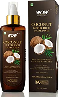WOW Skin Science Coconut Super Rich Facial Toner for Hydrating & Toning Skin - For All Skin Types - No Parabens, Sulphate...