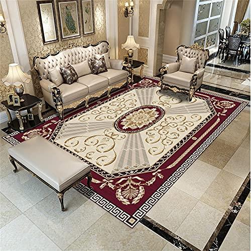 alfombras Baratas Salon Alfombra roja, Alfombra Suave Alfombra Ducha Antideslizante del cojín...