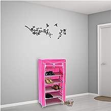 Vogue 6 Layer Shoe Organizer, Pink - 60L x 30W x 108H cm