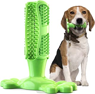 Fansun Dog Toothbrush Chew Toy Brushing Stick, Dental Care Teeth Cleaner for Small Medium Breed, Non-Toxic Natural Rubber Bite Resistant, 2 Bonus Cleaning Brush