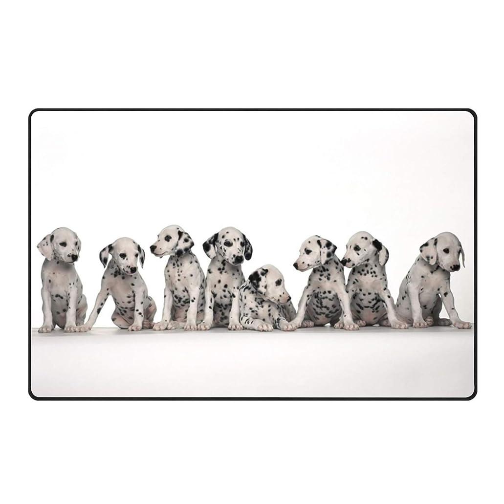 なのでにやにやヘロインダルメシアンの子犬の玄関マットの玄関マットの床のマットの敷物の非スリップ 75x45cm