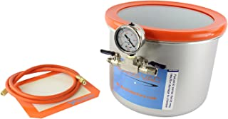 GlassVac 3 Gallon Wide Stainless Steel Vacuum Degassing Chamber for Wood Stabilizing