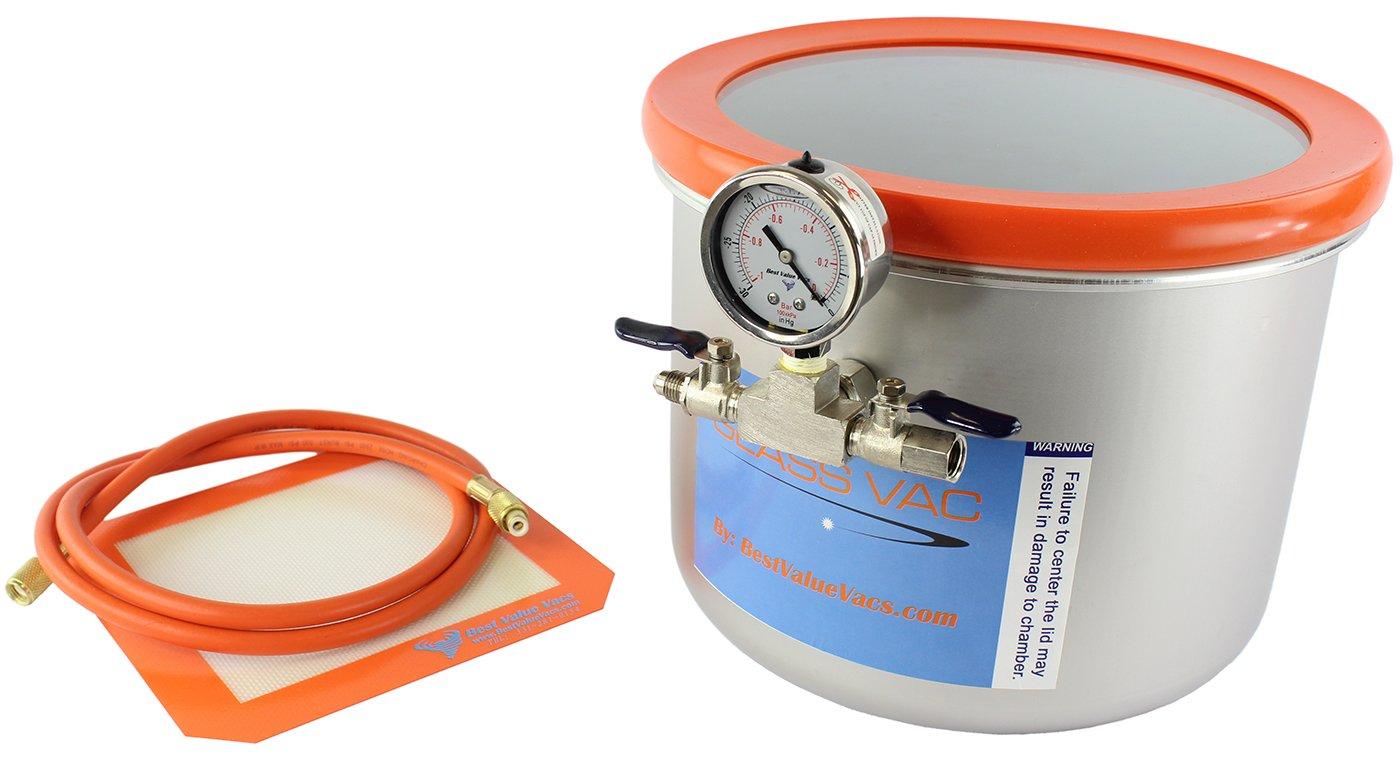 GlassVac Stainless Degassing Chamber Stabilizing