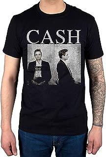 Johnny Cash Mug Shot T-Shirt Black