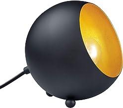 Reality Lampen Tafellamp, Metaal,, 14 X 15 X 15 Cm, Zwart Mat/Goudkleurig