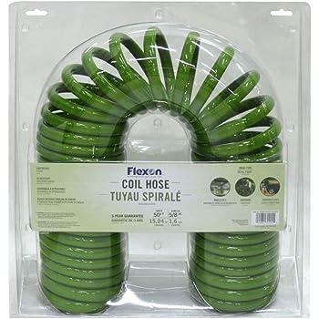 Amazon Com Flexon Ch1250n Coil Garden Hose 50ft Green Garden Outdoor
