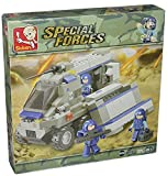Sluban , Special Forces Theme , Warfield Support Vehicle , 267 Piece , Block Bricks Toys , Lego Compatible , Construction Set , Made of Non-Toxic ABS , Educational Toy , M38-B0201 , for Kids