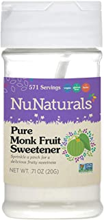 Sponsored Ad - NuNaturals All Natural Pure Monk Fruit Extract Sugar Free Sweetener, Pure Extract Powdered, Zero Glycemic I...