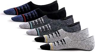 Calcetines invisibles para hombre y mujer (6 pares), de algodón, color negro y gris
