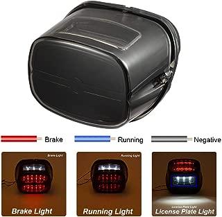 PBYMT LED Smoke Tail Light Rear Taillight Brake Turn Signal Light Running Light License Plate Light Compatible for Harley Road King Electra Glide Road Glide FLHX FLHTCUSE 1999-2020 (Black Housing)