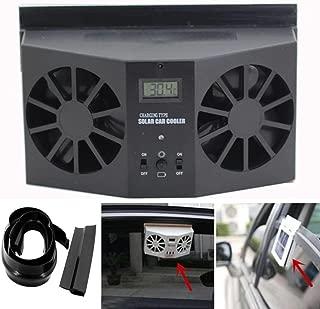 Transer Solar Powered Car Window Air Vent Ventilator Mini Air Conditioner Cool Fan (Black)